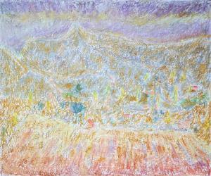 Une vue du Mont Justin depuis les Miellons (Die)
