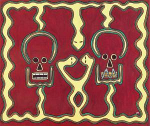 Tsikifo, l'indiscret et le misogyne. Exposition Madagascar (contes) - 1999 -