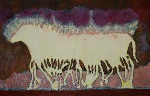 """Le mille et une pattes (Diptyque). Exposition """"La marche"""" 2011 -"""