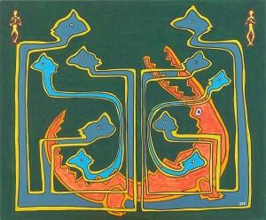 Les pintades et les caïmans. Exposition Madagascar (contes) - 1999 -